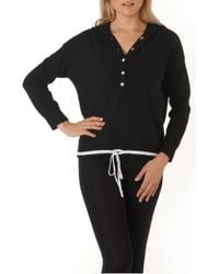 The White Company - Cashmere Contrast Hoodie - Lyst