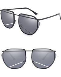 fc004008c7 SUNNYSIDE LA - 67mm Mirrored Sunglasses - Lyst