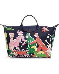 Longchamp - X Clo'e Floirat Le Pliage Illustration Travel Bag - Lyst