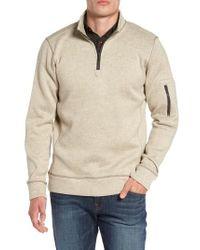 Jeremiah   Lance Herringbone Zip Mock Neck Sweater   Lyst