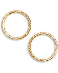 Argento Vivo - Rope Frontal Hoop Earrings - Lyst
