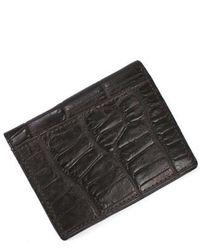 Martin Dingman - Jameson Matte Finish Genuine Alligator Leather Wallet - Lyst