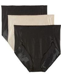 Tc Fine Intimates - 3-pack High Waist Briefs, Black - Lyst
