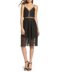 Sam Edelman | Star Lace Fit & Flare Dress | Lyst