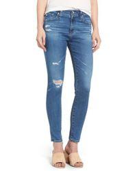AG Jeans | The Farrah High Waist Ankle Skinny Jeans | Lyst