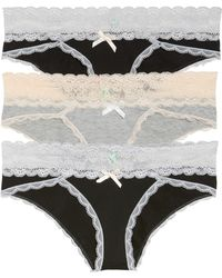 Honeydew Intimates - 3-pack Hipster Panty, Black - Lyst