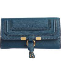 Chloé - Chloé Marcie - Long Leather Flap Wallet - Lyst