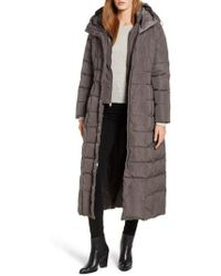 Cole Haan - Cole Haan Quilted Coat With Inner Bib - Lyst