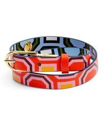 Tory Burch - Reversible Leather Double Wrap Bracelet - Lyst