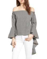 25815eec51a BISHOP AND YOUNG - Bishop + Young Gigi Ruffle Sleeve Off The Shoulder Top -  Lyst