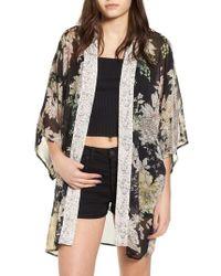 Band Of Gypsies - Floral Print Kimono - Lyst