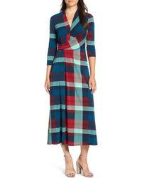 Chaus - Banner Plaid Maxi Dress - Lyst