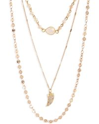Panacea - Layered Crystal Pendant Necklace - Lyst
