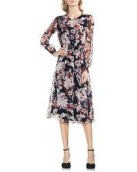 Vince Camuto - Timeless Blooms Cinch Waist Midi Dress - Lyst