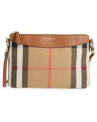 Burberry - 'peyton - House Check' Crossbody Bag - Lyst