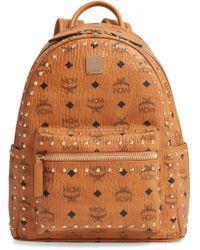 1e1a2067a78a Lyst - MCM Backpack - Stark Special Leather Stud Medium in Black