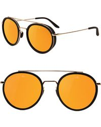 Vuarnet - Edge 52mm Round Sunglasses - Pure Brown Gold Flash - Lyst