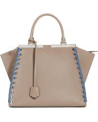 Fendi - 3jours Calfskin Leather Shopper - Lyst bee4af346a9e4