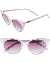0bcdea1b7c Quay - Aphrodite 53mm Cat Eye Sunglasses - Violet  Purple Fade - Lyst