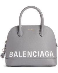 Balenciaga - Ville Logo Leather Dome Satchel - Lyst