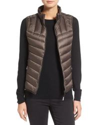 Tumi - Packable Quilted Down Vest, Brown - Lyst