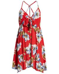 Band Of Gypsies - Blue Moon Floral Print Dress - Lyst