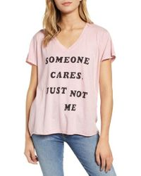 Wildfox - Romeo - Just Not Me V-neck Tee - Lyst