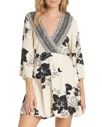 Billabong - Divine Floral Print Dress - Lyst