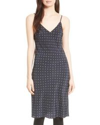 Vince - Refined Dot Silk Slipdress - Lyst