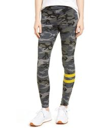 Sundry | Stripe Camo Yoga Trousers | Lyst