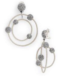 Oscar de la Renta - Beaded Orbits Drop Earrings - Lyst