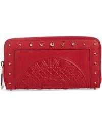 Balmain - Renaissance Leather Continental Wallet - Lyst