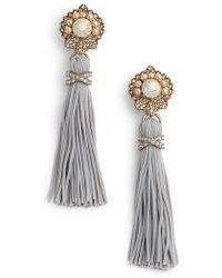 Marchesa - Tassel Drop Earrings - Lyst