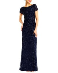 Adrianna Papell   Sequin Cowl Back Gown   Lyst