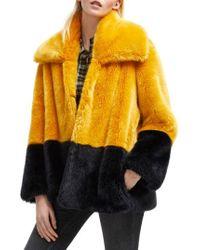 French Connection - Sebille Faux Fur Jacket - Lyst