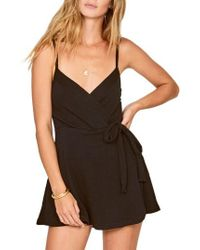 Amuse Society - Keep It Breezy Surplice Romper - Lyst