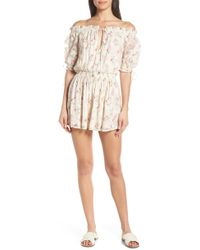 ab6d09279bf Hemant   Nandita - Off The Shoulder Cover-up Romper - Lyst