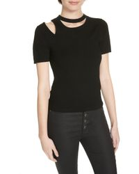 Alice + Olivia - Roslyn Cutout Fitted Sweater - Lyst