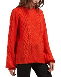 Volcom - Hellooo Cable Knit Sweater - Lyst