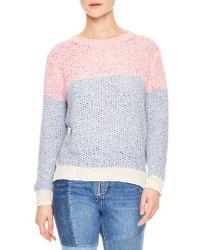 Sandro - Malabar Colorblock Knit Sweater - Lyst