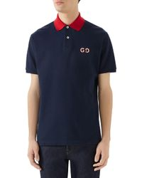afd66adcf Gucci Monogram Polo Shirt in Brown for Men - Lyst
