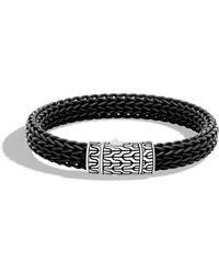 John Hardy - Classic Silver Rubber Chain Bracelet - Lyst