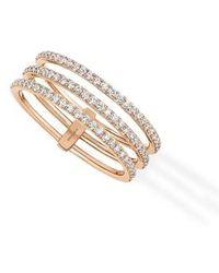 Messika | Gatsby 3 Row Diamond Ring | Lyst
