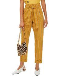 TOPSHOP - Polly Stripe Peg Trousers - Lyst