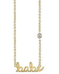 Shy By Sydney Evan - Babe Diamond Pendant Necklace - Lyst