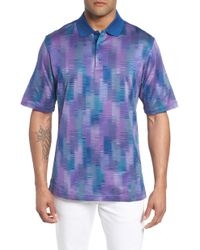 Bugatchi - Abstract Stripe Mercerized Cotton Polo - Lyst