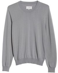 Maison Margiela - Jersey Cotton Sweater With Elbow Patches - Lyst