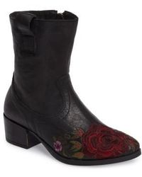 Sheridan Mia   Shallot Floral Embroidered Bootie   Lyst