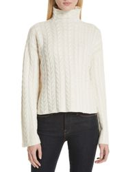 Theory - Cable Cashmere Sweater - Lyst