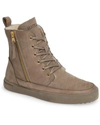 Blackstone - Ql64 High Top Sneaker With Genuine Shearling Lining - Lyst